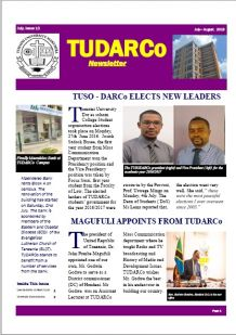 TUDARCo Newsletter Issue 13 July 2016