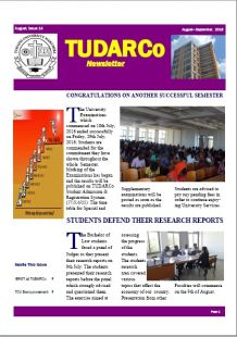TUDARCo Newsletter Issue 14 August 2016