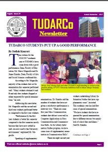 TUDARCo Newsletter Issue 24 August 2017